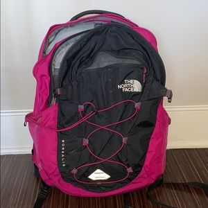 North Face Borealis Backpack in fuchsia pink